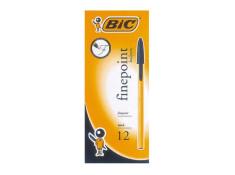 Bic Economy Ballpoint Fine Pens 12 Pk