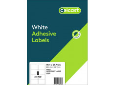 Celcast 99.1 x 67.7mm White Laser & Inkjet 8UP