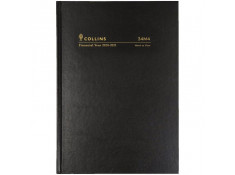 Collins 2020/21 A4 Week-To-View (WTV) 1-Hour Black Financial Year Diary.
