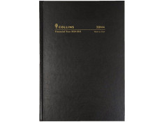 Collins 2020/21 A5 Week-To-View (WTV) 1-Hour Black Financial Year Diary.