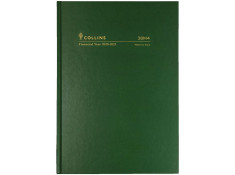 Collins 2020/21 A5 Week-To-View (WTV) 1-Hour Green Financial Year Diary.