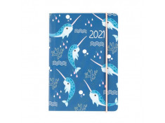 Collins 2021 Natura A6 Day-To-Page (DTP) Narwhal