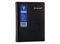 Collins Vanessa A5 Spiral 200 Page Lined Black
