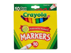 Crayola Broad Line Classic Colours 10 Pack
