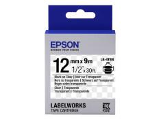 Epson LK-4TBN 12mm x 9m Black on Clear