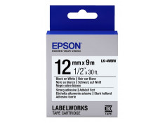 Epson C53S654103 12mm x 9m Black on White