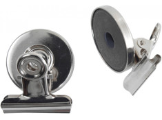 Esselte Magnetic 32mm Chrome Twin Pack