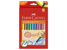 Faber-Castell Jumbo Twist Assorted Crayons
