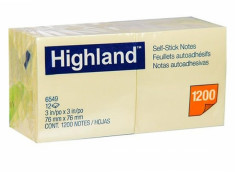 Highland 6549 Stick On Notes  76mm x 76mm 12Pk