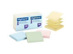 Highland 6549-PUA Self-stick Pastel Pop-up 76mm x 76mm PK12