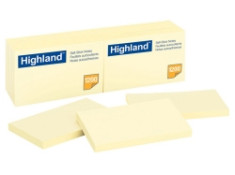 Highland 6559 Stick On Notes 73mm x 123mm 12Pk