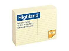Highland 6609 Stick On Notes 100mm X152mm 12Pk