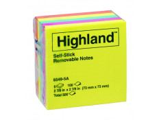 Highland NOTE PADS 6549-5A 73mm x 73mm ASST