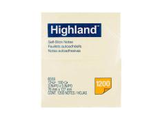 Highland Stick On Notes 6559 76mm x 127mm 12Pk