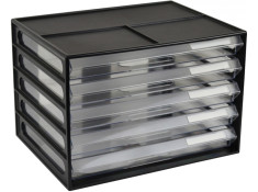 Italplast A4 5 Drawer Black