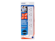 Jackson 90cm White 4 Outlet Surge Protected with Master Switch