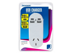 Jackson 4 Outlet USB Charger with Mains