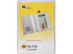 Marbig 20 Page A4 Flic File Insert Cover