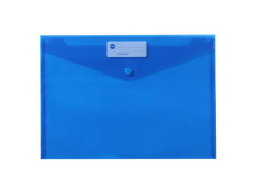 Marbig A4 Button Blue Document Wallets