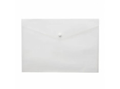Marbig A4 Button Clear Document Wallets