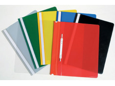 Marbig A4 Clear Front Assorted Coloured 5 Pack of
