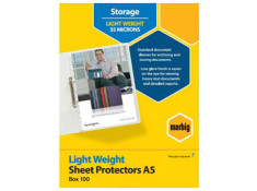 Marbig A5 Light Weight 100 Pack Sheet Protector