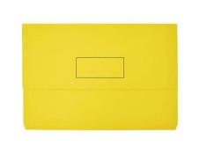 Marbig Manilla Foolscap Slimpick Document Wallet Yellow