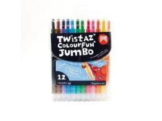 Micador Twistaz Colourfun Jumbo Crayons