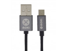 Moki Braided Micro-USB SynCharge Cable