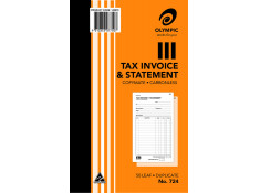 Olympic 10 Pk of No.724 Tax Invoice and Statement 50 Leaf