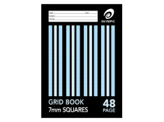 Olympic A4 7mm Grid 48 Page