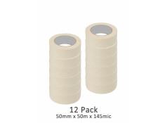 SCI 12 Pack White/Beige 50mm x 50m x 145 Mic