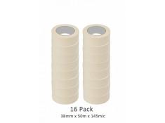 SCI 16 Pack White/Beige 38mm x 50m x 145 Mic