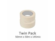 SCI 2 Pack White/Beige 50mm x 50m x 145 Mic