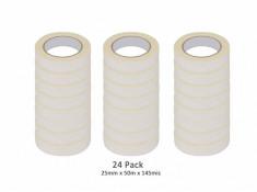 SCI 24 Pack White/Beige 25mm x 50m x 145 Mic