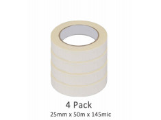 SCI 4 Pack White/Beige 25mm x 50m x 145 Mic