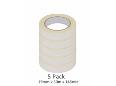SCI 5 Pack White/Beige 19mm x 50m x 145Mic
