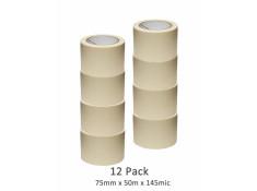 SCI 8 Pack White/Beige 75mm x 50m x 145 Mic