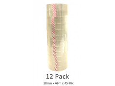 SCI Bulk Buy 12 Pack Clear 18mm x 66m