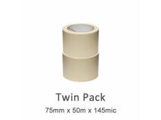 SCI 2 Pack White/Beige 75mm x 50m x 14