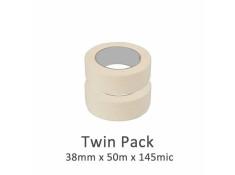 SCI 2 Pack White/Beige 38mm x 50m x 145 Mic