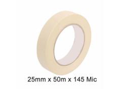 SCI White/Beige 25mm x 50m x 145 Micron
