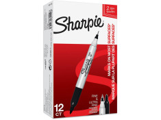 Papermate Sharpie Twin Tip Permanent Markers 12Pk