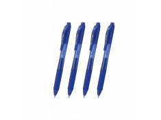 Pentel BL107 Energel 0.7mm Fine Retractable Blue Gel Roller Pens
