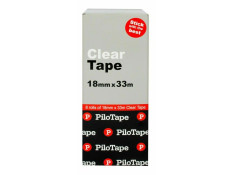 Pilotape 18mm x 33m Tin Can 8 Pack Clear
