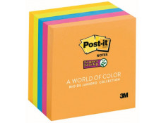Post-It 3M Super Sticky Notes 76 x 76mm Rio 5 Pk