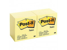 Post-It 654 76 x 76mm Yellow 12 Pack