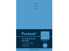 Protext 10mm Grid Poly Graph A4 Dolphin 48 Page