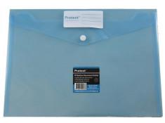 Protext A4 PP Button Closure Blue
