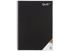 Quill A3 Spiral Black Cover 120 Page